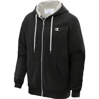 CHAMPION Mens Eco Fleece Full Zip Hoodie   Size Large, Black