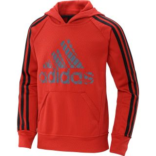 adidas Boys Tech Fleece Pullover Hoodie   Size Small, Lt.scarlet