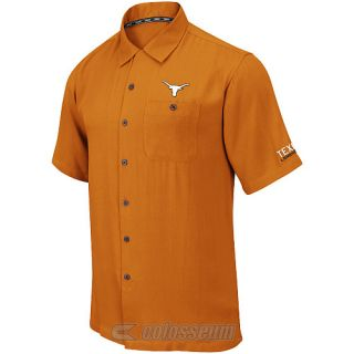 COLOSSEUM Mens Texas Longhorns Button Up Camp Shirt   Size Xl, Texas Orange