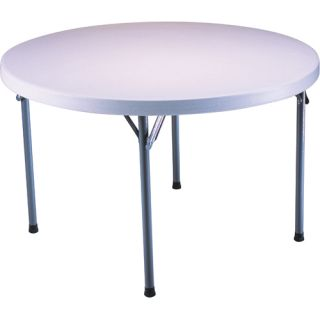 Lifetime 4 Round Utility Table (Case Pack of 4 Tables)   Size 48 Round, White