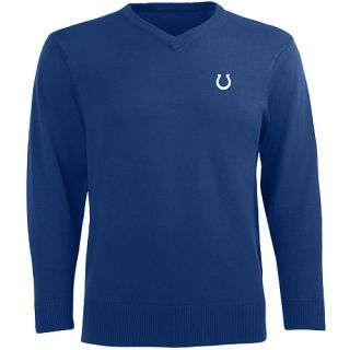 Antigua Mens Indianapolis Colts Ambassador Knit V Neck Sweater   Size Medium,