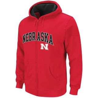 adidas Youth Nebraska Cornhuskers Basic Fleece Full Zip Hoody   Size Medium,