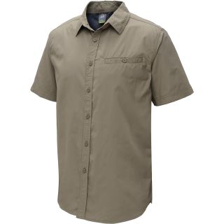 ALPINE DESIGN Mens Tech Short Sleeve Shirt   Size Medium, Walnut