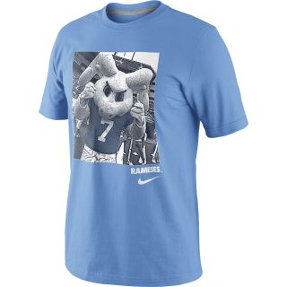 NIKE Mens North Carolina Tar Heels Mascot Photo Short Sleeve T Shirt   Size
