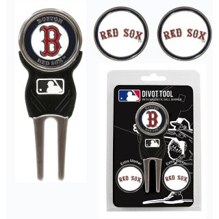 Team Golf MLB Boston Red Sox 3 Marker Signature Divot Tool Pack (637556953452)