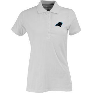 Antigua Womens Carolina Panthers Spark 100% Cotton Washed Jersey 6 Button