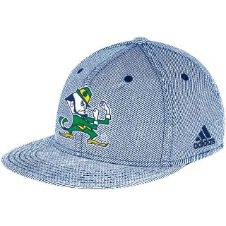 adidas Mens Notre Dame Fighting Irish Campus FVF Flat Brim Flex Cap   Size