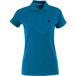 Antigua Womens Carolina Panthers Spark 100% Cotton Washed Jersey 6 Button Polo