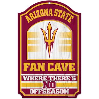 WINCRAFT Arizona State Sun Devils 11x7 Inch Fan Cave Wooden Sign