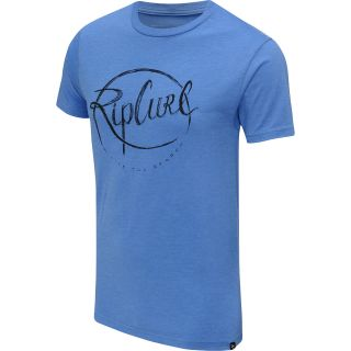 RIP CURL Mens Crew Heather Short Sleeve T Shirt   Size Small, Royal