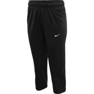 NIKE Womens All Time Fleece Capris   Size Medium, Black/white