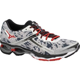 MIZUNO Mens Wave Creation 15 Running Shoes   Size 11, Silver/black/red