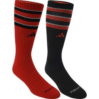 adidas Kids Team Crew Socks   2 Pack   Size Small, Red/black