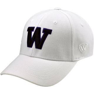 TOP OF THE WORLD Mens Washington Huskies Premium Collection White Stretch Fit