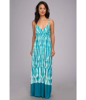 Calvin Klein Spag Strap Tie Dye Maxi Womens Dress (Green)