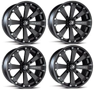 "MSA M20 Kore ATV Wheels/Rims Black 16"" Polaris Sportsman RZR Ranger (4) Automotive"