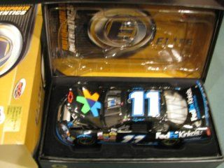 Top of the Line Action RCCA Elite Diecast Denny Hamlin #11 Raced Win Version Car 23 July 2006 Long Pond PA Pocono Fedex Kinkos 1/24 Scale Hood Trunk Open Motorsports Authentics (AKA Action Racing) Only 299 Produced Rookie Year 2nd Win Yellow Rookie Stripes