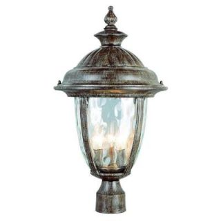 Filament Design Stewart 3 Light Outdoor Burnished Rust Incandescent Post Light CLI WUP6545921