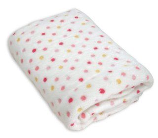 Stephan Baby Ultra Soft Plush Fleece Blanket, Pink Pastel Polka Dots  Nursery Blankets  Baby