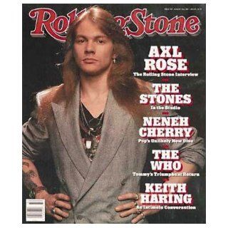 Rolling Stone Magazine # 558 August 10 1989 Axl Rose (Single Back Issue) Rolling Stone Books