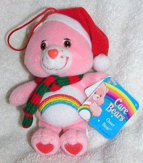 "Care Bears 5"" Plush Cheer Bear Christmas Ornament with Scarf and Santa Hat Toys & Games"