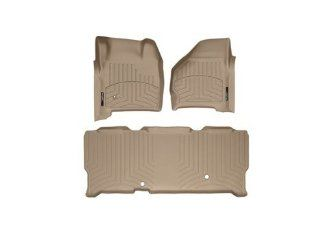 1999 2007 Ford Super Duty (F 250/F 350/F 450/F 550) SuperCab Tan Weathertech Floor Liner (Full Set 1st & 2nd Row) Automotive