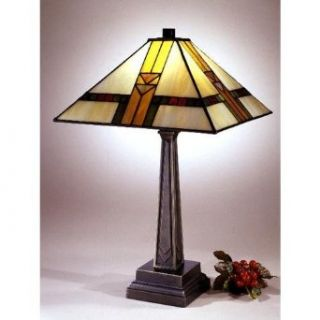 Dale Tiffany 8655/551 Edmund Mission Style Table Lamp, Antique Bronze