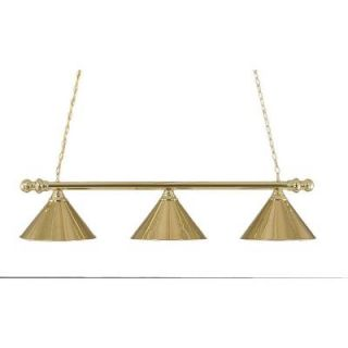 Filament Design Concord 3 Light Ceiling Polished Brass Incandescent Island Pendant CLI TL5014740