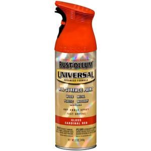 Rust Oleum Universal 12 oz. All Surface Gloss Cardinal Red Spray Paint (6 Pack) 245211