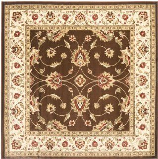 Safavieh Lyndhurst Collection LNH553 2512 Brown and Ivory Square Area Rug, 6 Feet 7 Inch
