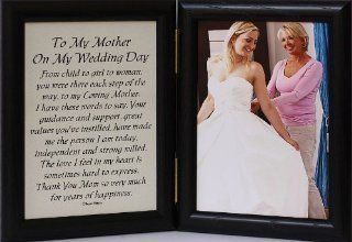 5x7 Hinged TO MY MOTHER ON MY WEDDING DAY Poem ~ Black Picture/Photo Frame ~ A Wonderful Gift Idea for the MOTHER OF THE BRIDE   Bridesmaid Gifts