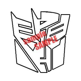 TRANSFORMERS AUTOBOT AND DECEPTICON SUPERHERO WHITE VINYL DECAL STICKER
