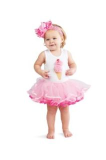 Mud Pie Baby girls Newborn Ice Cream Tutu Dress, Pink/White, 9 12 Months Clothing