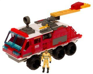 Tonka BTR Search & Rescue Rapid Response Fire Truck with Firefighter Building Set Toys & Games