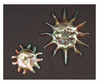 Raku Ceramic Set of Sun Face Wall Decor Garden Plaque  Outdoor Plaques  Patio, Lawn & Garden