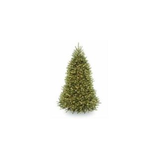 National Tree DUH 330LD 75S 7 . 5 ft.  Dunhill Fir Hinged Tree with 700 Low Voltage Dual Color LED Lights with On Off Swit Christmas Decor