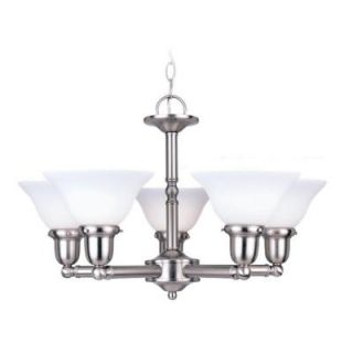 Sea Gull Lighting Sussex 5 Light Brushed Nickel Single Tier Chandelier 39062BLE 962