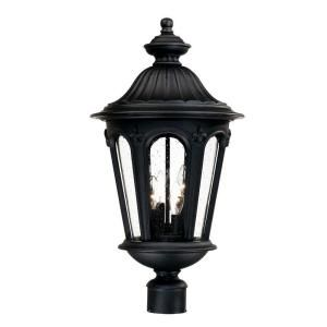 Acclaim Lighting Marietta Collection Post Mount 4 Light Outdoor Matte Black Light Fixture DISCONTINUED 61577BK