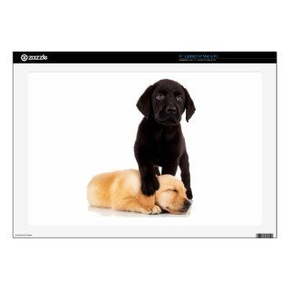 "Labrador Retriever Puppies Playing 17"" Laptop Skin"