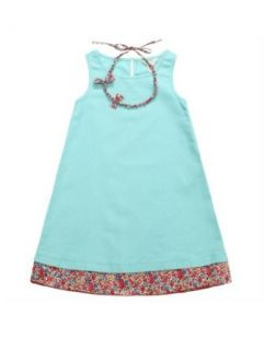 Richie House Girls Bright Floral Trim and Necklace Dress Playwear Dresses Clothing