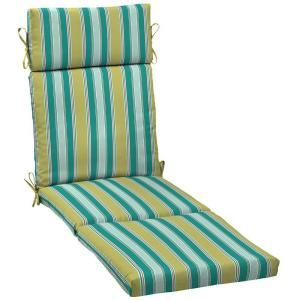 Hampton Bay Riviera Stripe Outdoor Chaise Lounge Cushion AD16853B 9D1