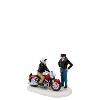 A new '56 Harley Davidson Figurine Snow Village Dept 56 Christmas Accessory   Holiday Collectible Buildings