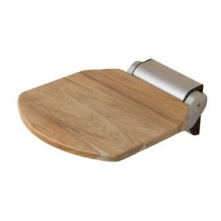14 in. Teak Wall Mount Folding Shower Seat in Unfinished Teak ISS101 UT
