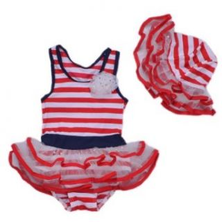 BHL Girls Baby 2 Piece Swimwear 2 8Y Salior Clothing