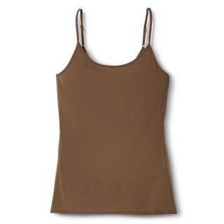 JKY By Jockey Womens Nylon Stretch Cami   Chestnut L
