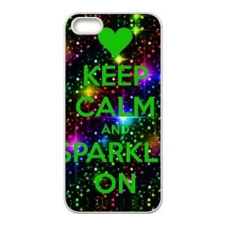 Keep Calm and Sparkle Accessories Apple Iphone 5/5S Best Designer TPU Case Cover Protector Bumper Cell Phones & Accessories