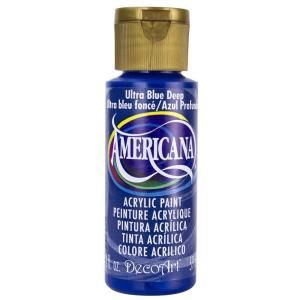 DecoArt Americana 2 oz. Ultra Deep Blue Acrylic Paint DA100 3