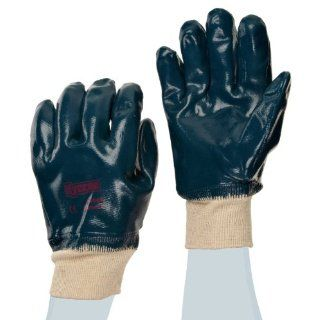 Ansell Hycron 27 602 Nitrile High Temperature Glove, Fully Coated on Jersey Liner, Large (Pack of 12 Pairs) Work Gloves