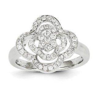 14K White Gold Diamond Ring. Carat Wt  0.47ct. Metal Wt  3.79g Jewelry