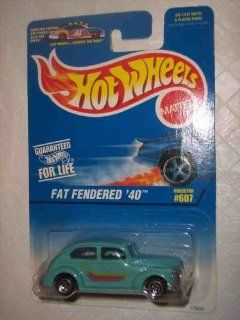 #607 Fat Fendered '40 Collectible Collector Car Mattel Hot Wheels Toys & Games